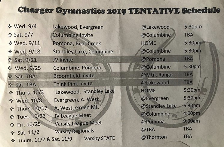 Varsity and JV Schedule