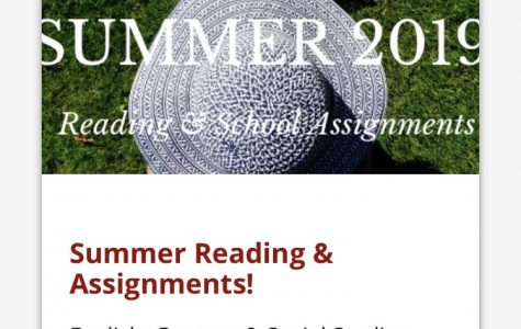 You can find your summer reading assignment on chargerpride.com