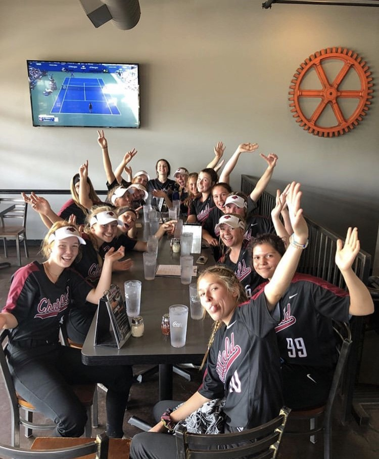Softball team is enjoying some non-game time in Erie.