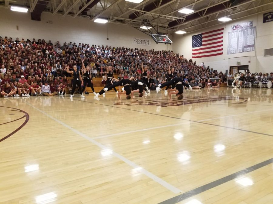 Homecoming+Assembly+-+Poms+Never+Disappoint