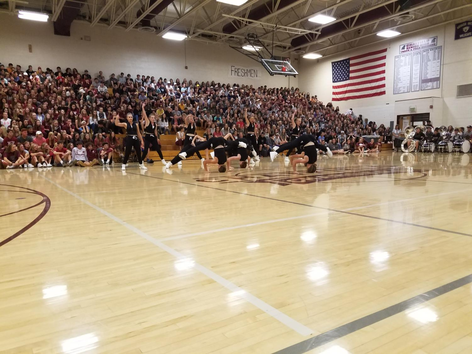 Homecoming Assembly - Poms Never Disappoint