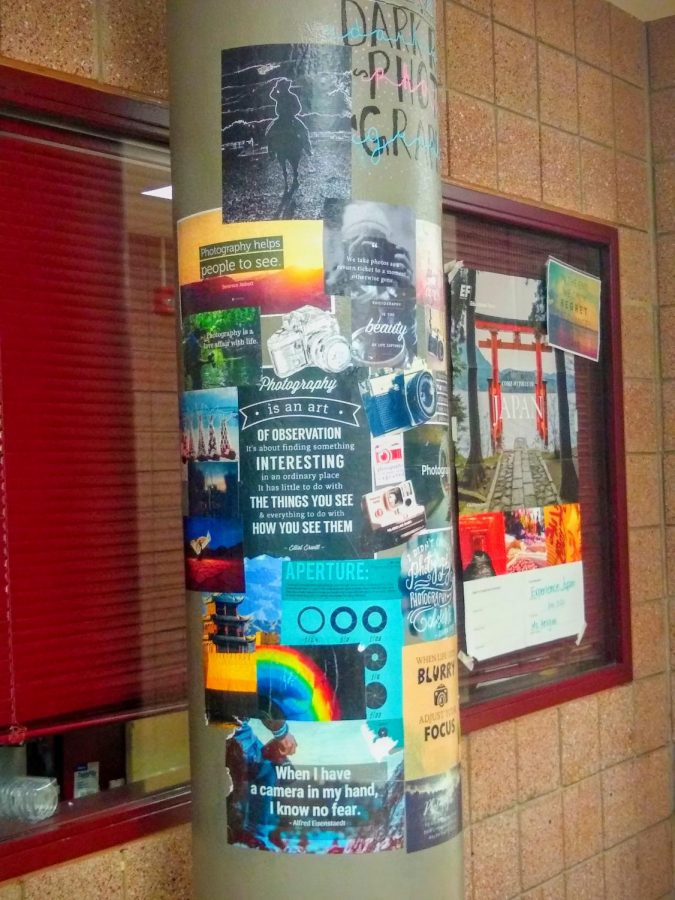C Hall photography pillar
