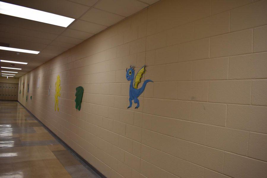 Cute little dragon in Upper A Hall