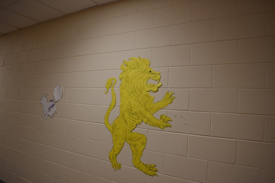 Angry lion in Upper A Hall