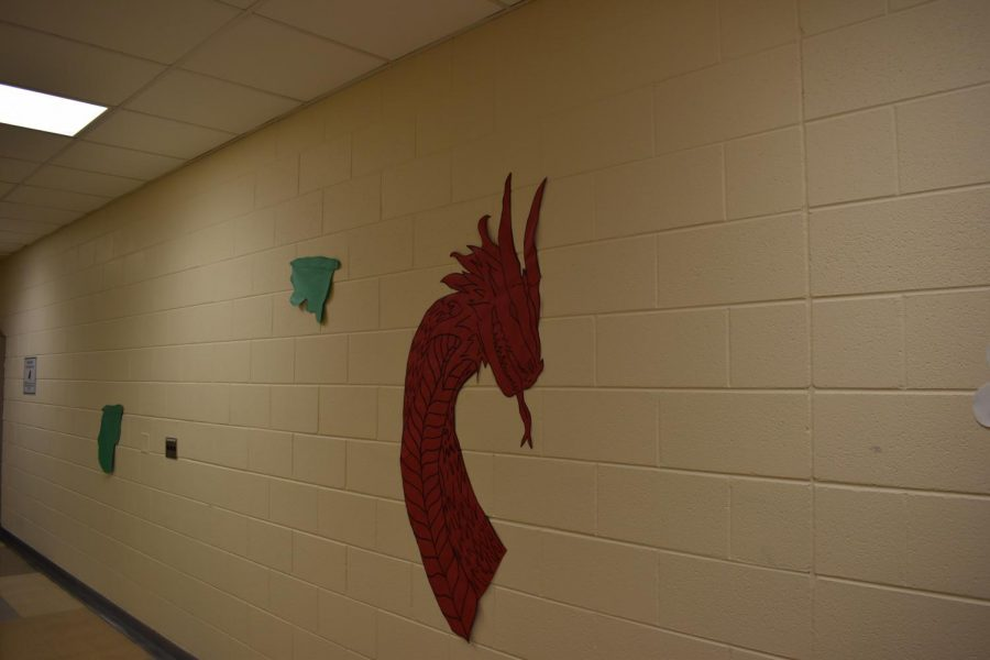 The angry, fancy serpent in Upper A Hall