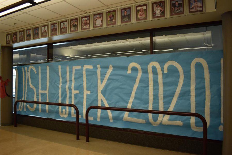 Wish Week 2020! sign on the Bridge