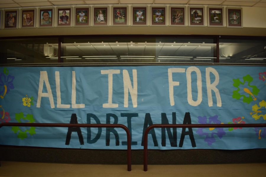 All In For Adriana sign on the Bridge