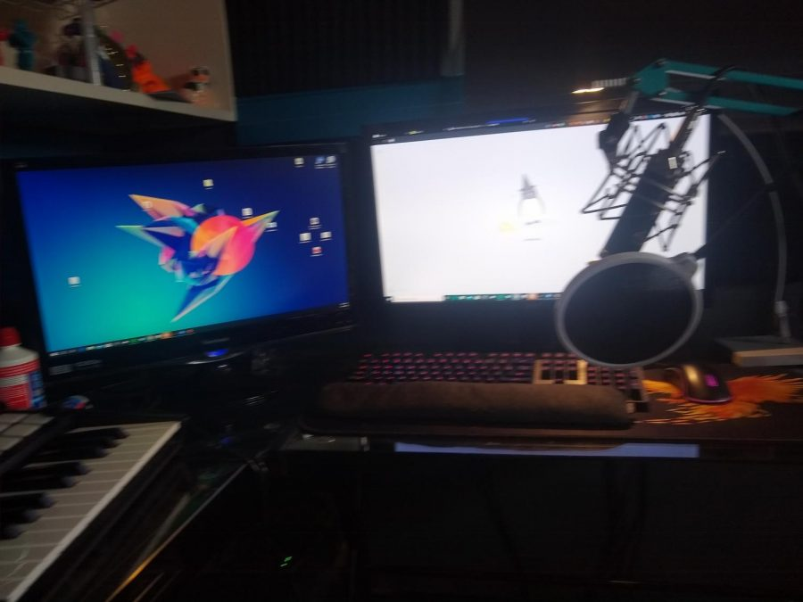 Where I do my work - blurry picture